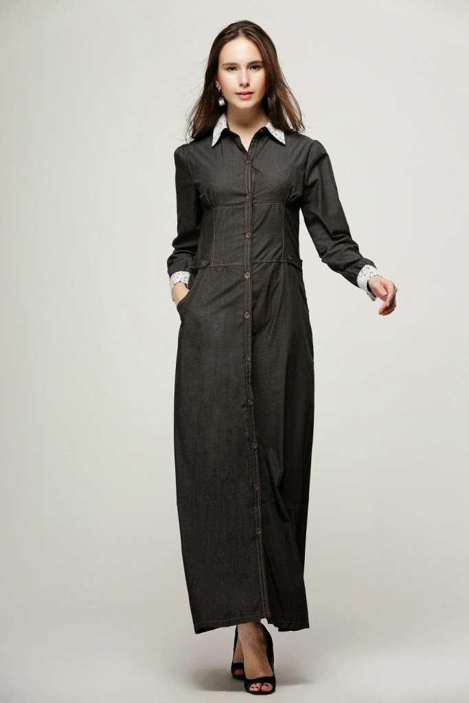 baju muslimah denim murah malaysia online 2014