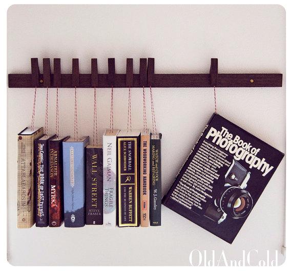 Wood Book Rack ~ Bookshelf custom made wooden book rack