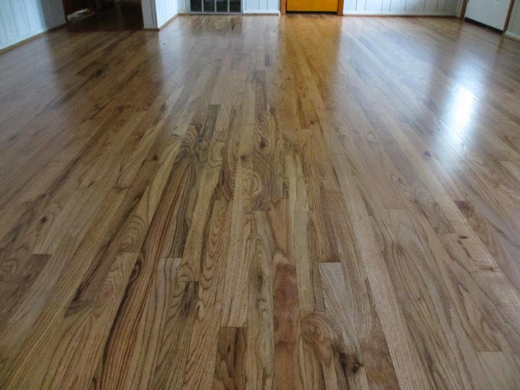 Oak Hardwood Flooring on Living Room