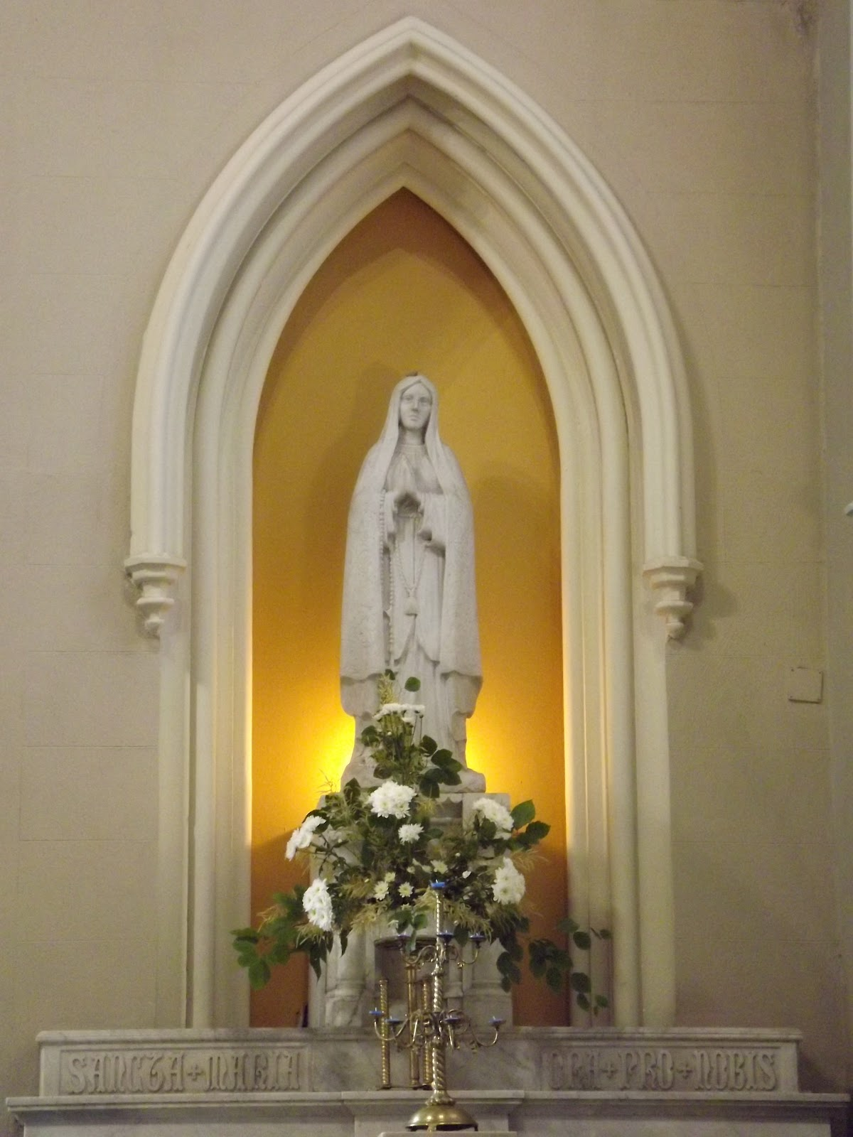 The catholic heritage association of ireland vigil of st for Altar wall decoration
