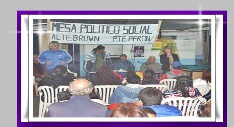Mesa Politica Social en Brown y Pte Peron