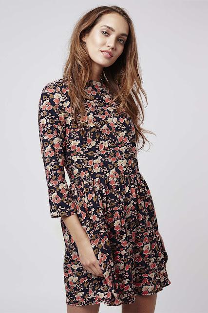 floral long sleeve dress,