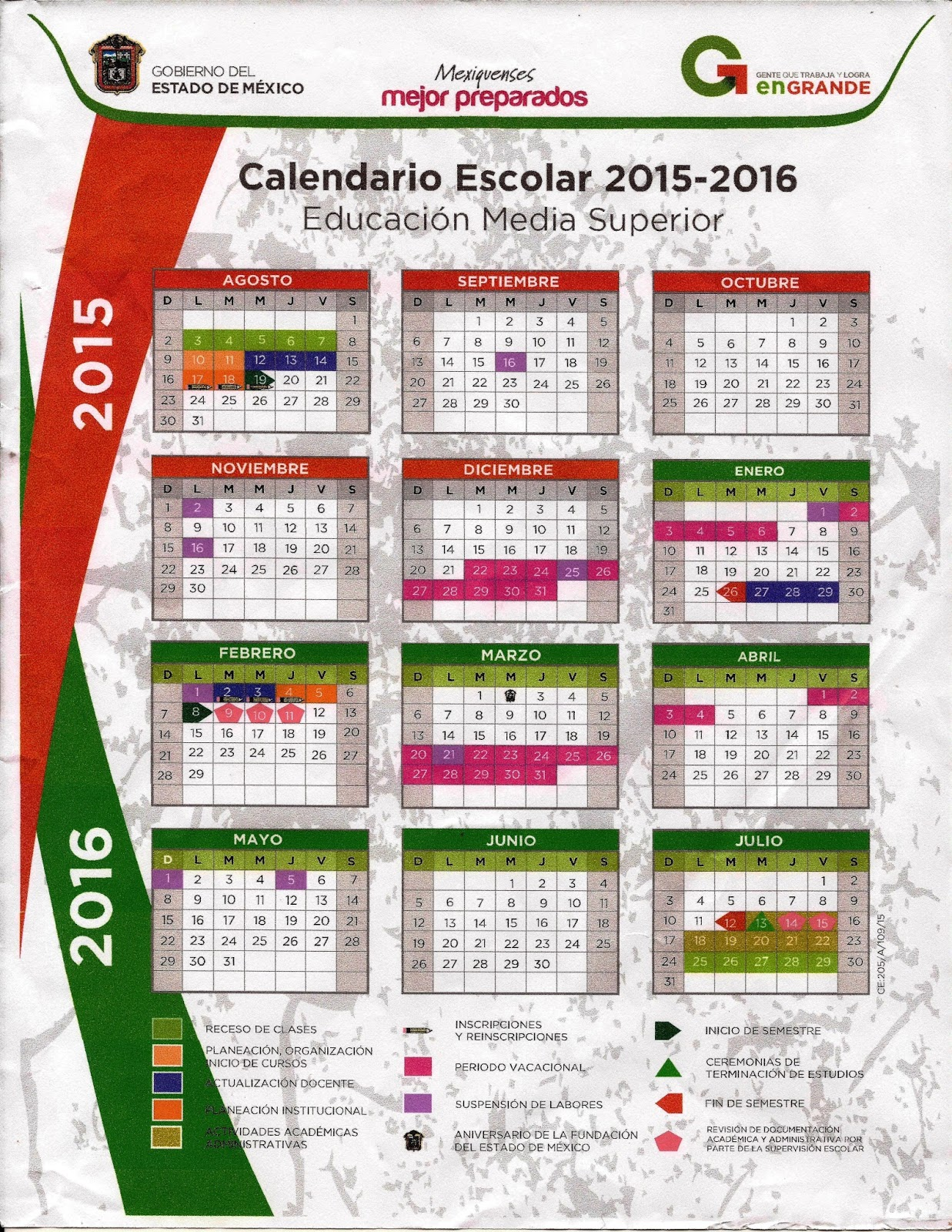 "... Calendario Dias Descanso Obligatorio Mexico 2016"" – Calendar 2015"