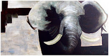 Olifant 140 x 60 cm Acryl op doek