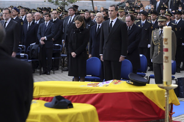 King Felipe And Queen Letizia Of Spain Attended A Funeral Ceremony In Madrid