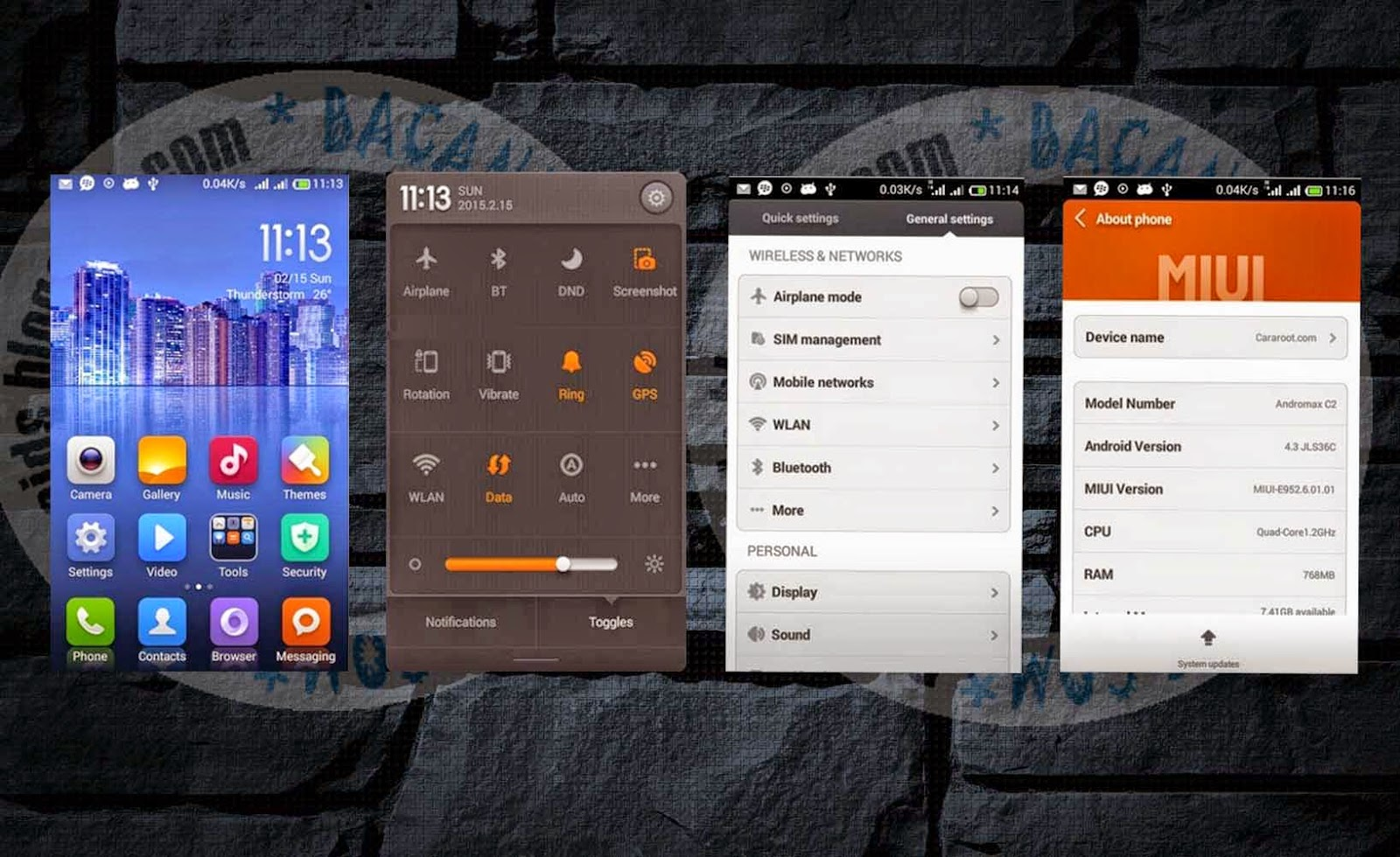 ROM MIUI V5  For Andromax C2(Fix Bug)