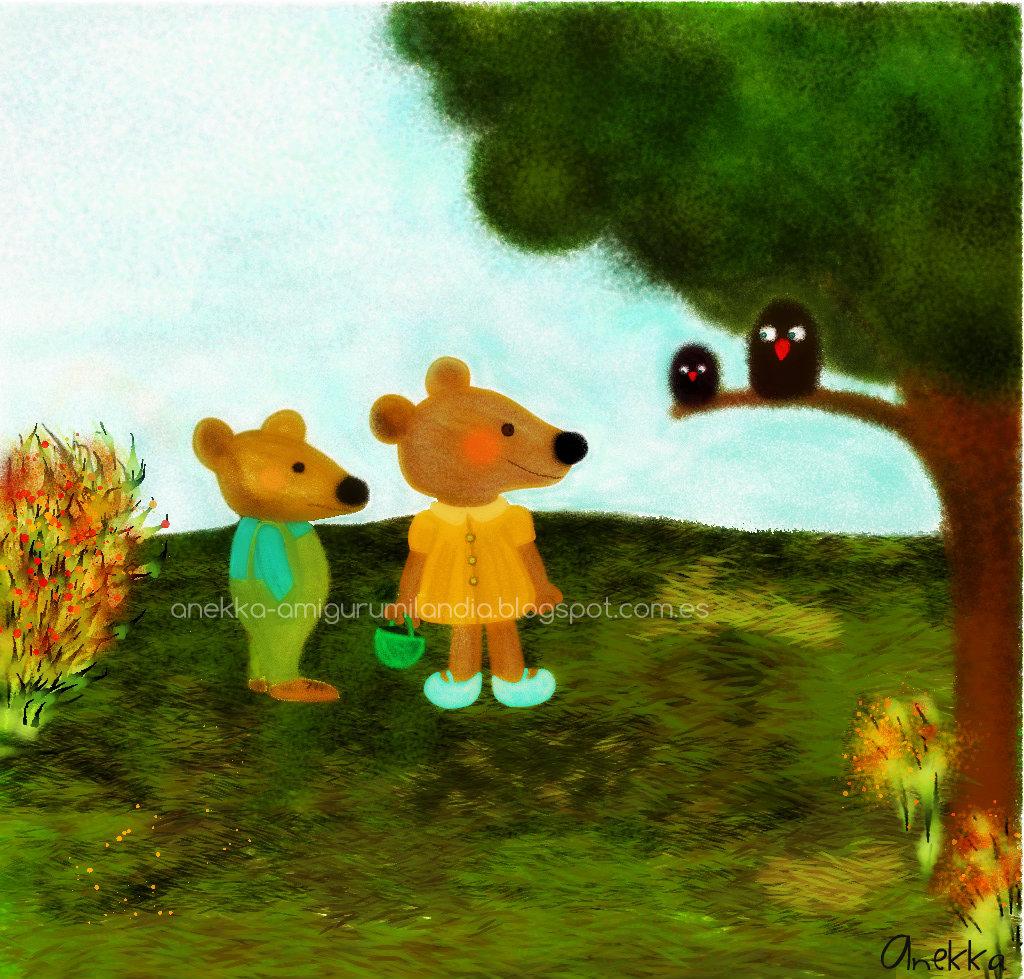 teddy bear illustration anekka handmade