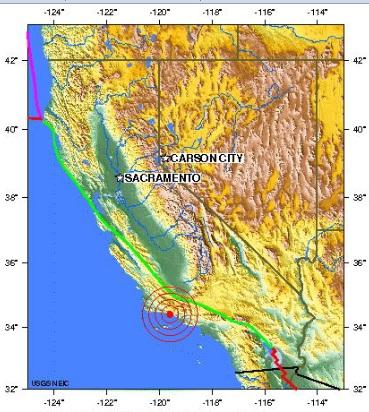 california earthquake 2012 june 28