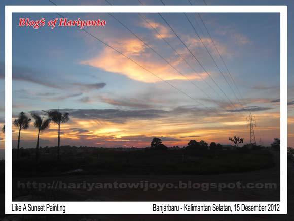 sunset di banjarbaru kalimantan selatan