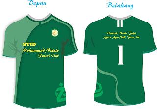 Download template kaos futsal hijau depan belakang