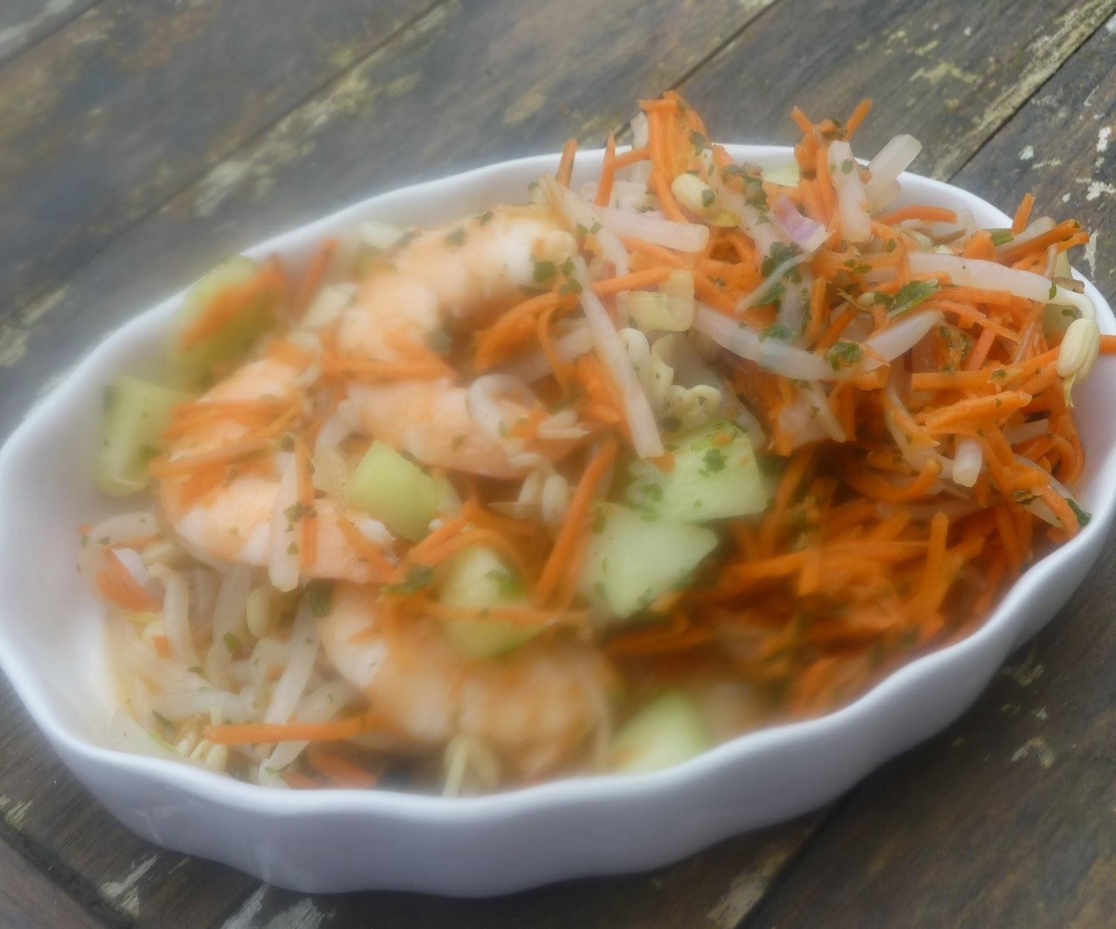 Recettes asiatiques pour fêter le Nouvel an chinois  : salade de soja et crevettes