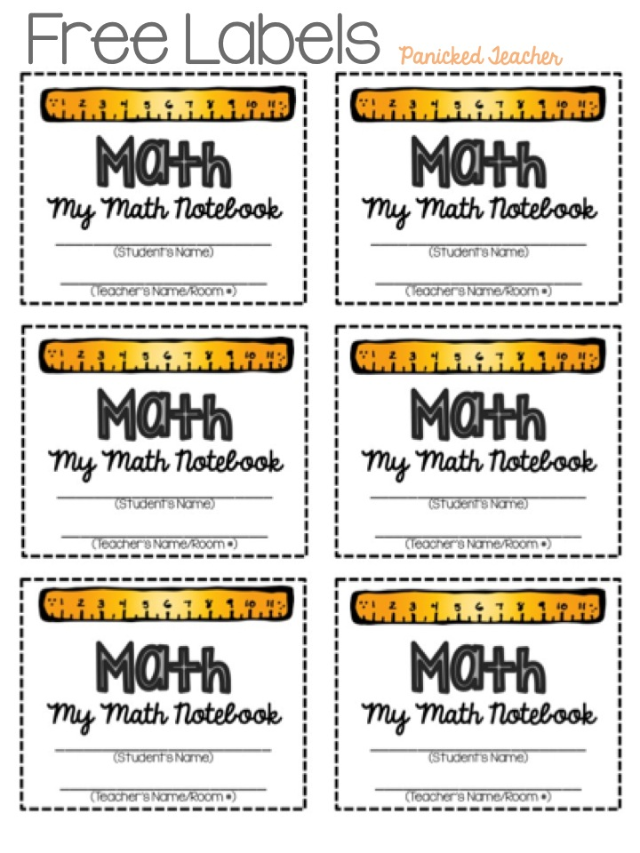 Interactive Notebook Labels Panicked Teacher S Blog