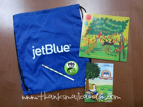 JetBlue travel backpack