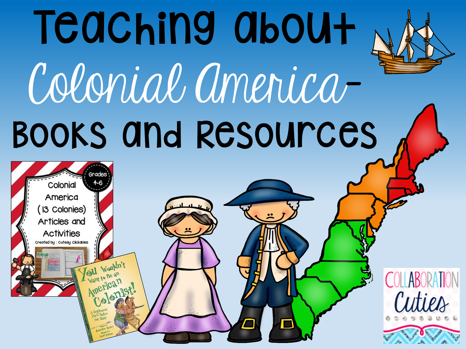 Collaborative Teaching Books ~ Collaboration cuties teaching about colonial america