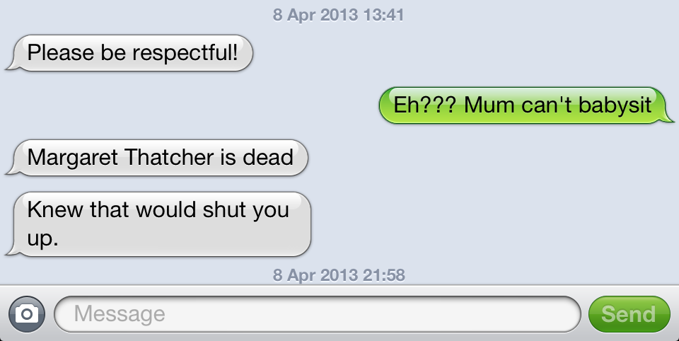I Was In The Labour Group Room Of Leicester Town Hall When This Text Exchange With My Nearest And Dearest Commenced