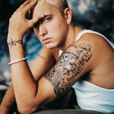 Tattoo do Eminem no braço
