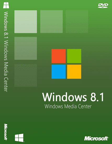 Windows 8.1 WMC DVD Cover