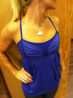 lululemon graceful flow tank in pimgent blue