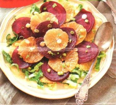 Салат со свеклой и апельсином