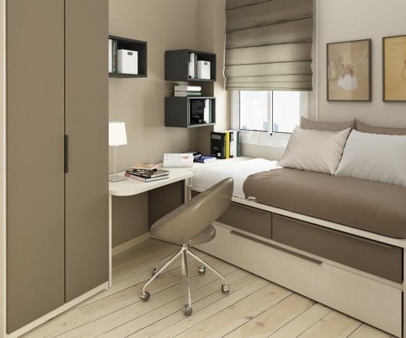 Habitaci n para ni os en espacios peque os decoracion de for Decoracion de espacios para ninos