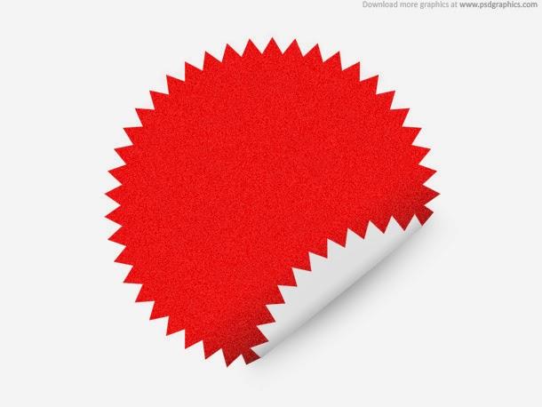 Star Shape Sticker PSD
