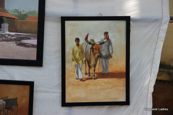 village oil painting india
