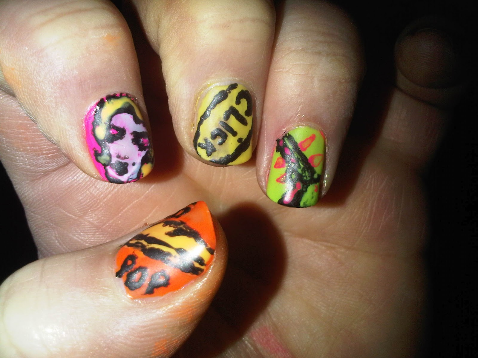 Maybelater: Neon Pop Art For Nails