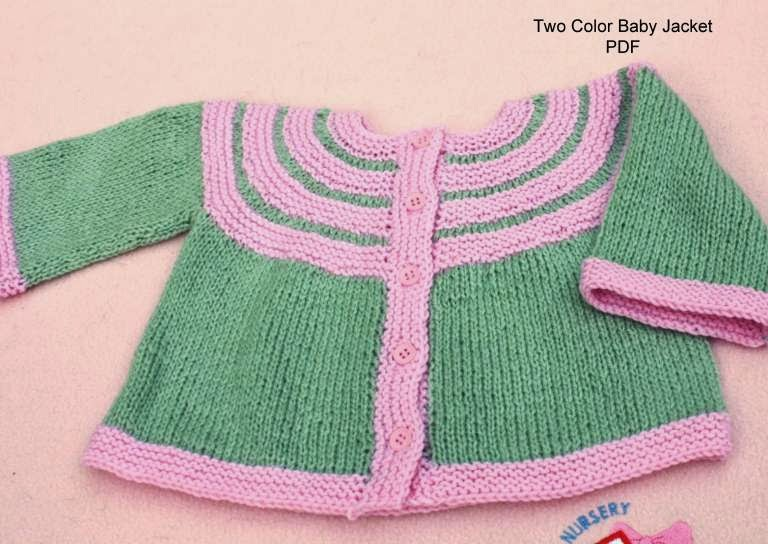All Knitted Lace: New Pattern release: Two Color Baby Cardigan