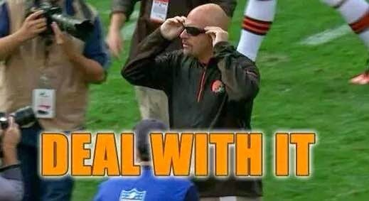 deal with it. - #Pettine #Browns