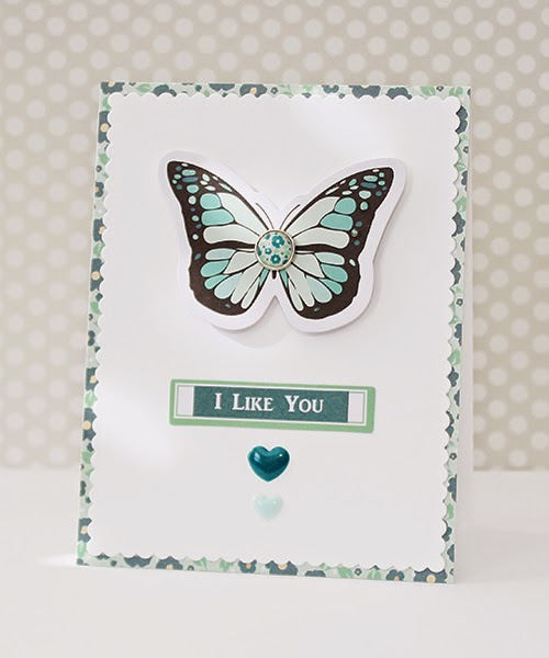 Erin Taylor Chickaniddy Crafts Valentine's Day Card 2