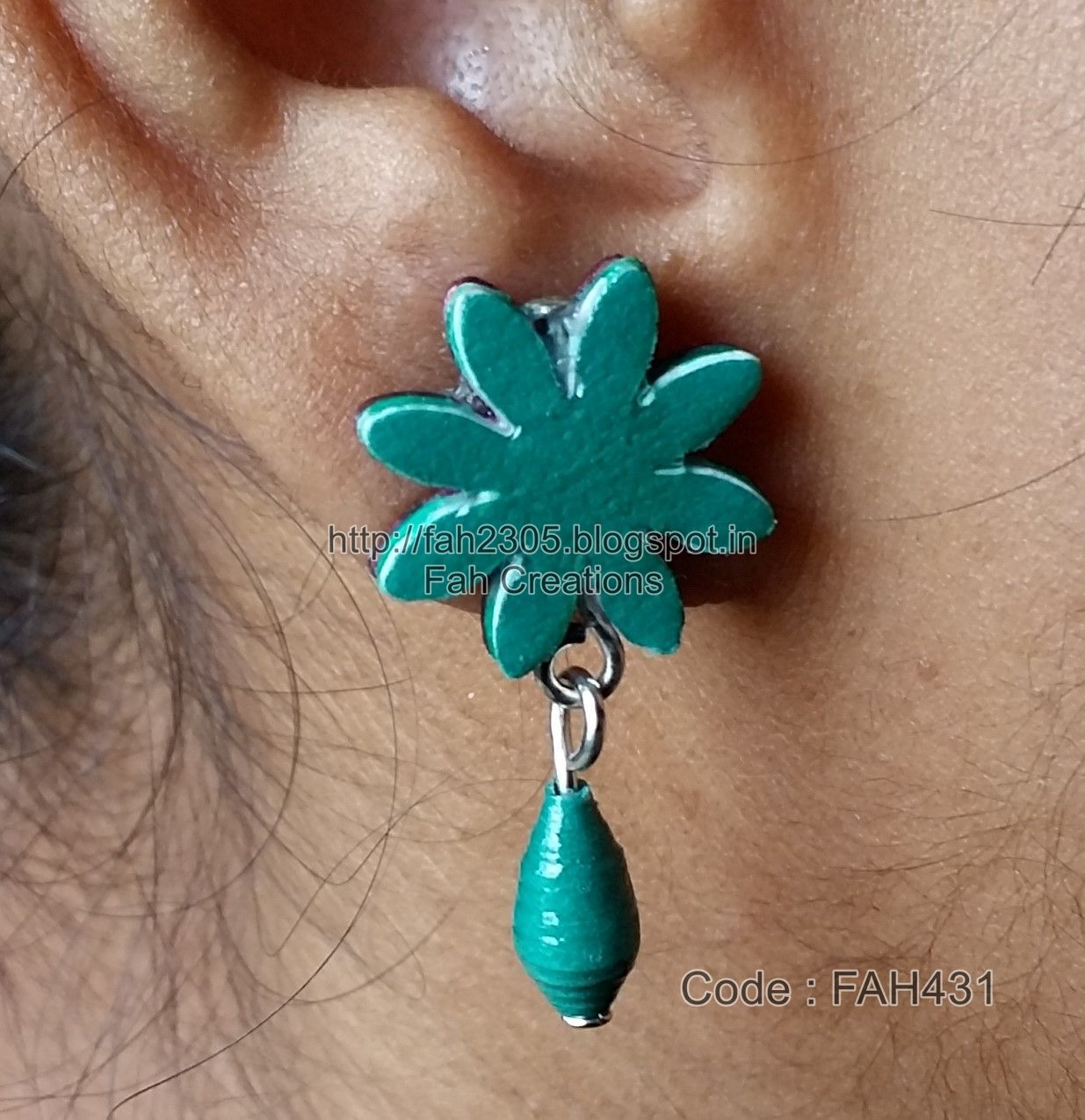 I Have Used Paper Punch And Beads To Make This Type Of Earrings