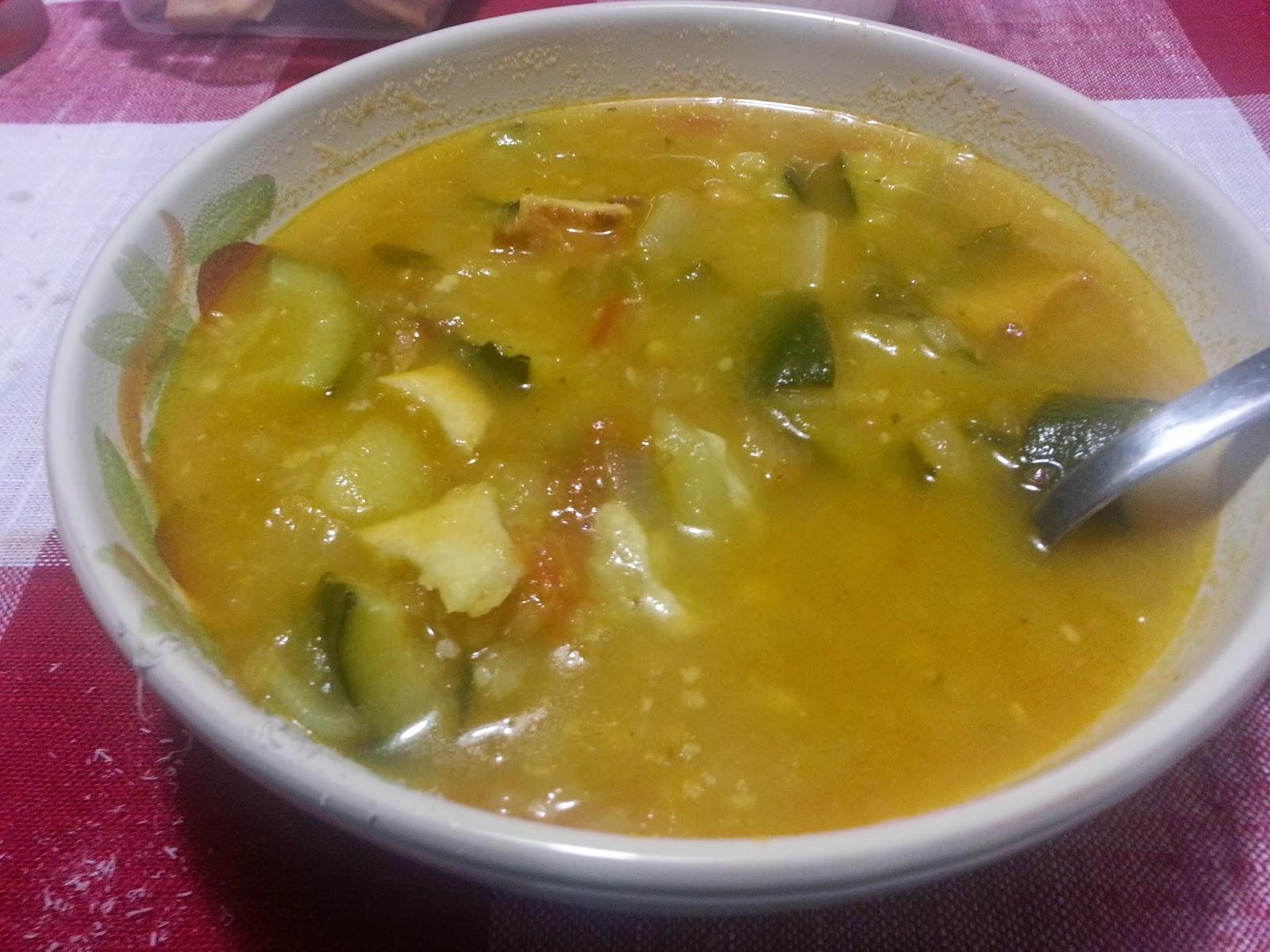 zuppa di patate e zucchine col bimby