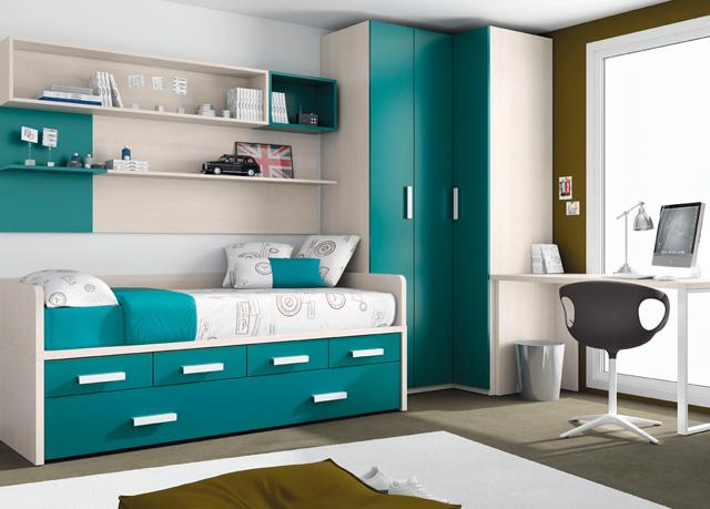 Dormitorio infantil con cuna y armario de rinc n - Pintar dormitorios juveniles ...