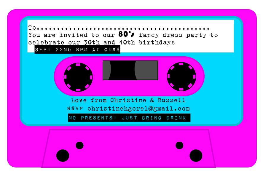 80s Party Invite Template – 80s Party Invite Template