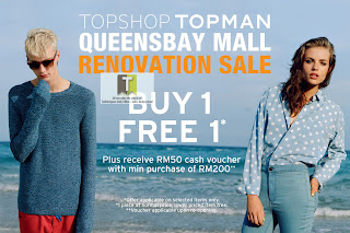 Topshop Queensbay Mall Renovation Sale 2013