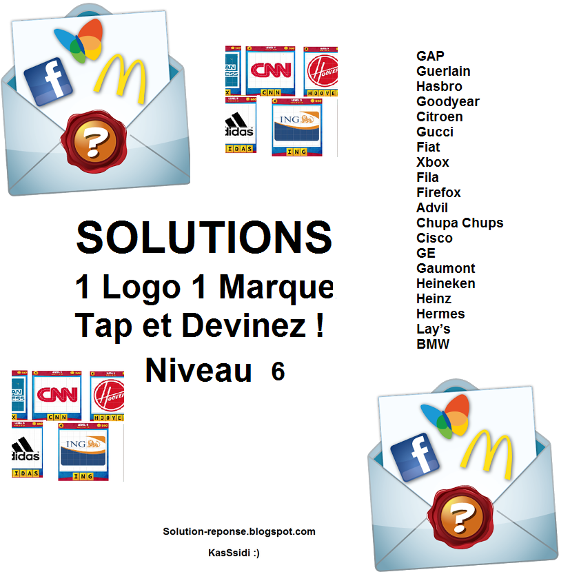 solution 1 marque 1 logo quiz niveau 6 toutes les solutions r ponses des jeux android iphone. Black Bedroom Furniture Sets. Home Design Ideas