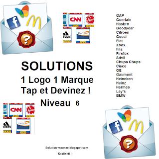 Solution 1 marque 1 logo quiz niveau 6