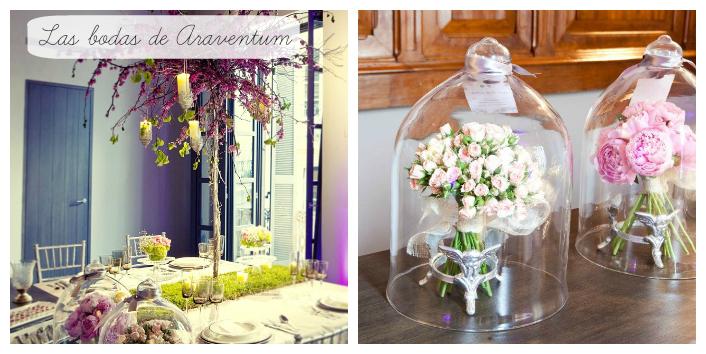 Tendencias decoraci n con campanas de cristal floritismo - Tendencias de decoracion ...