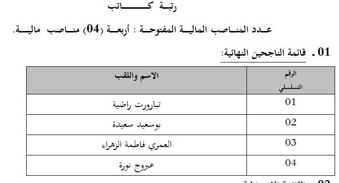 إعلان قائمة الناجحين في مسابقة التوظيف في وزارة التجارة ماي 2014 6.jpg