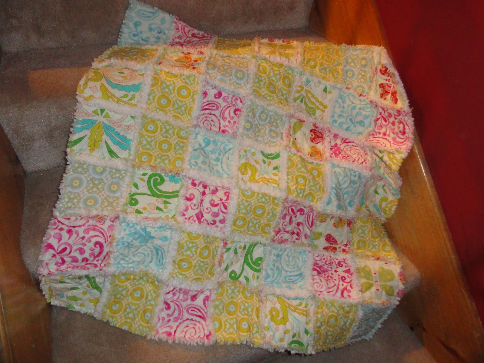 Oxford impressions rag quilt using kumari garden by dena for Dena designs kumari garden