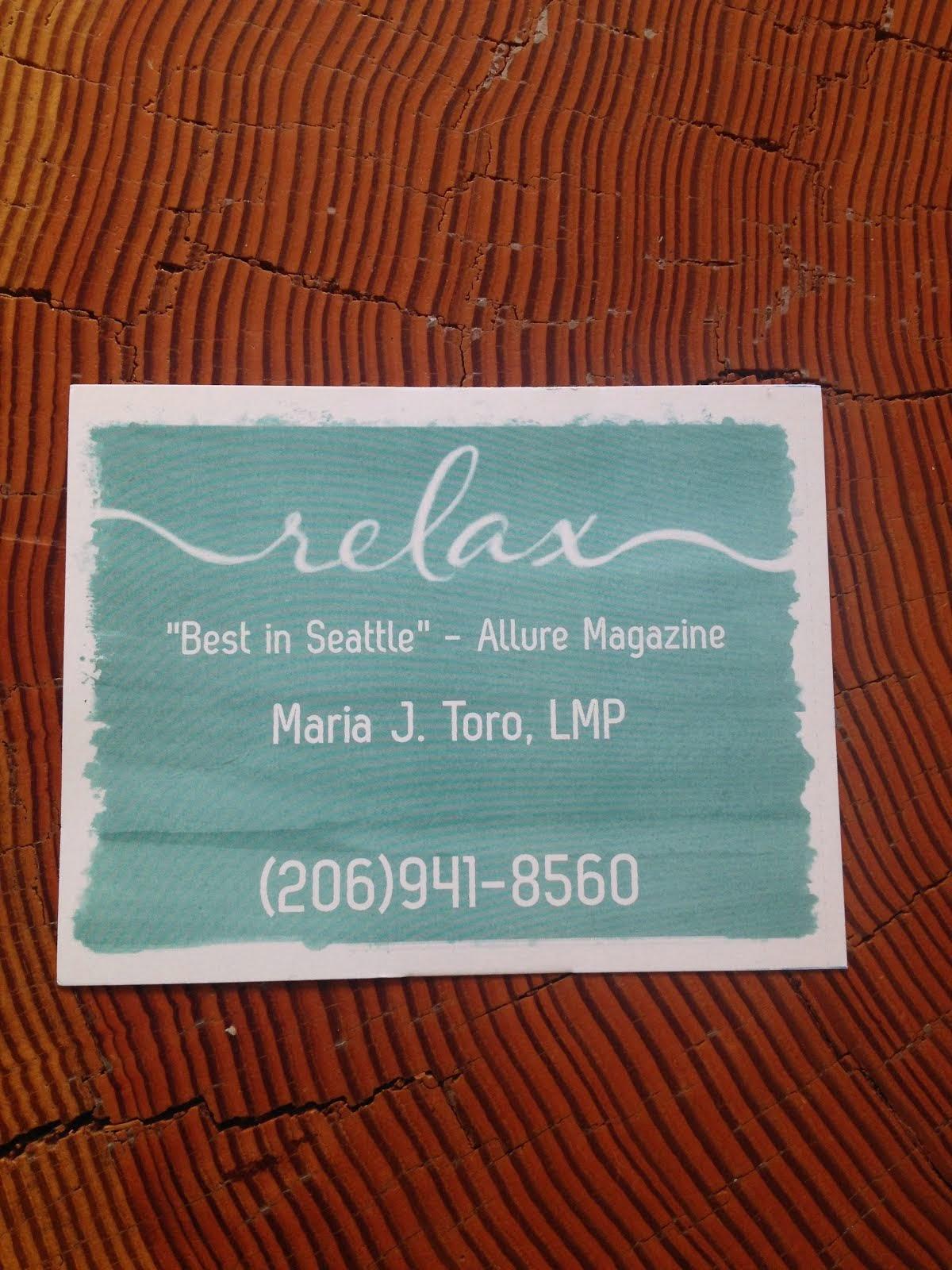 Massage heals. Maria J. Toro, LMP