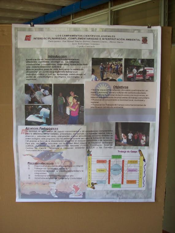 Cartel de los Campamentos Científicos