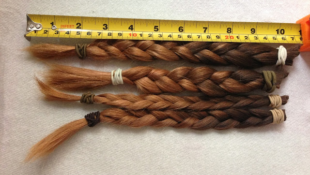 plaited hair to donate to little princess trust