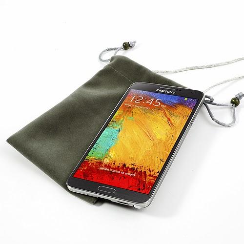 Universal 5-6 Inch Soft Velvet Pouch Case for Samsung Galaxy Note 3 N9005 / Samsung Galaxy Note 2 N7100, Size: 15.2 x 10cm - Grey