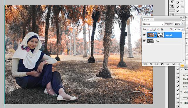 panas+10 Efek musim panas dengan tambahan BW di photoshop