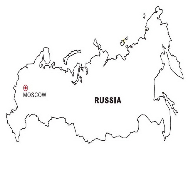 LAMINAS PARA COLOREAR - COLORING PAGES: Mapa y Bandera de Rusia para ...