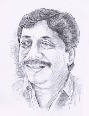 Sreenivasan Pencil Portrait