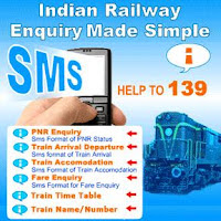 Railway Enquiry 139 services via SMS and IVRS