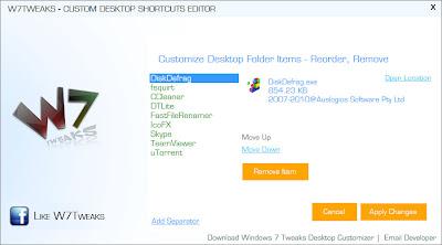 Desktop Shortcut Screenshot