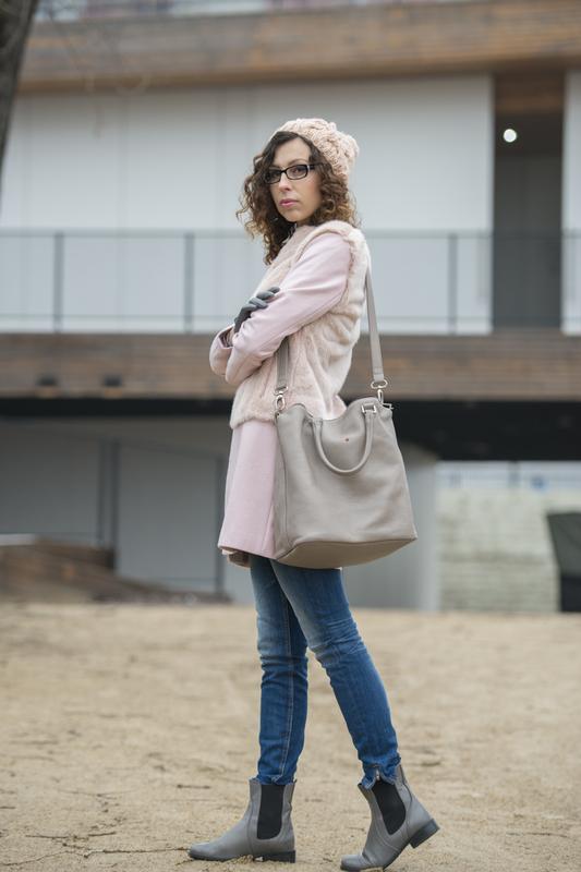 pastel pink coat Zara